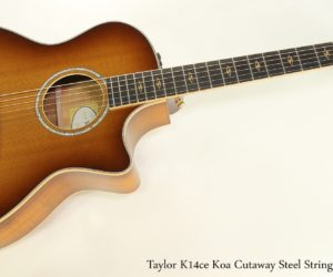 Off the MAP!  Taylor K14ce Koa Cutaway Steel String Guitar, 2015
