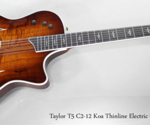 ❌SOLD❌ 2009 Taylor T5 C2-12 Koa Thinline Electric Guitar