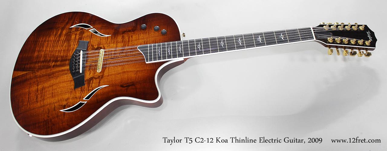 2009 taylor t5 c2 12 koa thinline electric guitar. Black Bedroom Furniture Sets. Home Design Ideas