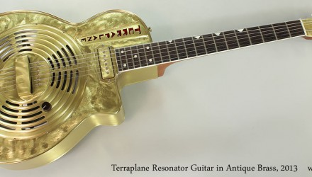 Terraplane-Resonator-Guitar-in-Antique-Brass-2013-Full-Front-View