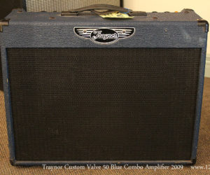 SOLD!!! 2009 Traynor Custom Valve 50 Blue Combo Amplifier