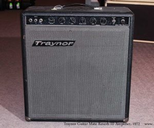 1972 Traynor Guitar Mate Amplifier No Longer Available