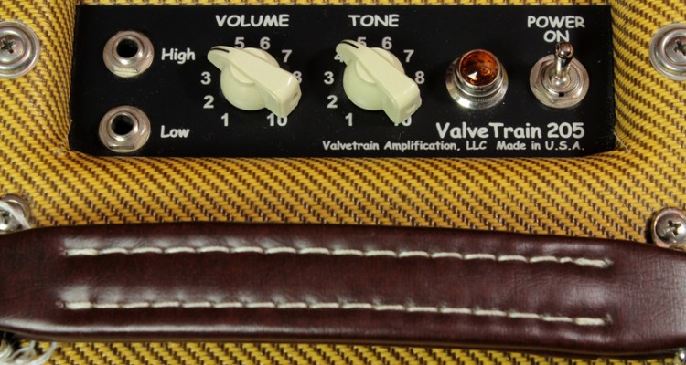 2009-Valvetrain-205-Tallboy-Tweed-amp-panel