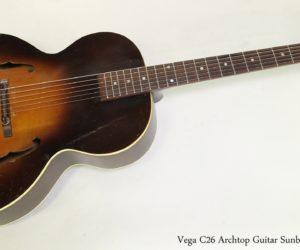 Vega C26 Archtop Guitar Sunburst, 1945