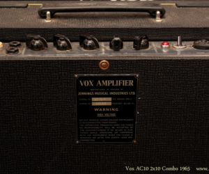 1965 Vox AC10 2x10 Combo Amplifier (consignment)  SOLD