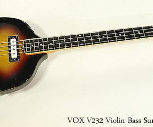 VOX V232 Violin Bass Sunburst 1966