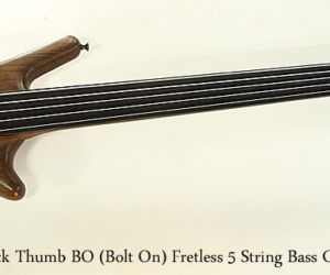 ❌SOLD❌ Warwick Thumb BO Bolt On Fretless 5 String Bass Guitar, 2002