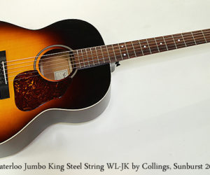 SOLD!!! Waterloo Jumbo King Steel String WL-JK by Collings, Sunburst 2016