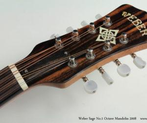 2008 Weber Sage No.1 Octave Mandolin SOLD