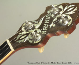 1926 Weymann Style 1 Orchestra Model Tenor Banjo SOLD