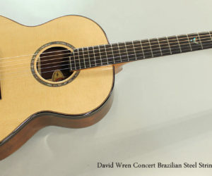 2015 David Wren Concert Brazilian Steel String Guitar