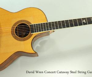 1979 David Wren Concert Cutaway Steel String Guitar