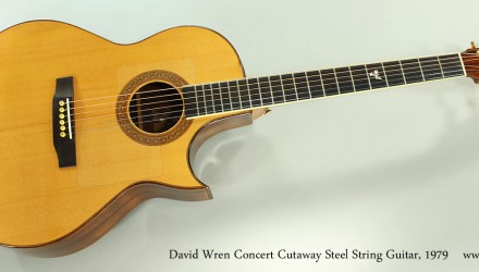 David-Wren-Concert-Cutaway-Steel-String-Guitar-1979-Full-Front-View