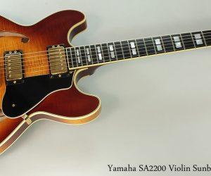 2001 Yamaha SA2200 Thinline Archtop (SOLD)