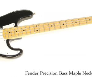 Fender Precision Bass Maple Neck Black, 1975