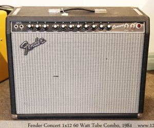 Fender Concert 1x12 60 Watt Tube Combo, 1984