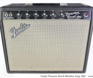 ❌SOLD❌  Fender Princeton Reverb BlackFace Amp, 1967