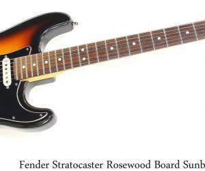 Fender Strat Rosewood Board Sunburst, 1997
