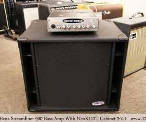 Genz Benz Streamliner 900 Bass Amp With NeoX112T Cabinet 2011