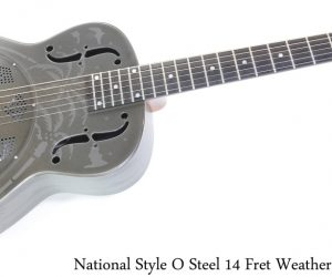 National Style O Steel 14 Fret Weathered Steel