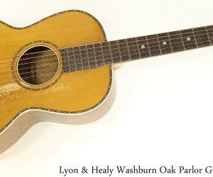 Lyon & Healy Washburn Oak Parlor Guitar, 1920s